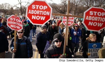 anti abortion protesters